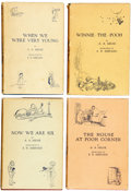 Books:First Editions, A. A. Milne. When We Were Very Young. With Decorations byErnest H. Shepard. London: Methuen & Co., [1924]. First ed...(Total: 4 Items)
