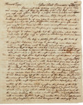 "Autographs:Statesmen, Philadelphia 1776: William Vernon Jr. Autograph Letter Signed. Twoand one-half pages, 6.5"" x 8"", Nassau Hall, Princeton, Oc..."