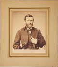"Autographs:Military Figures, Ulysses S. Grant Photograph Signed ""U. S. Grant/ Lt. Gen.U.S.A."" Grant, who was appointed a lieutenant general byPresi..."