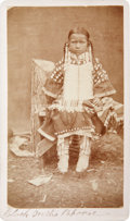 "American Indian Art:Photographs, ""BLACK TEETH'S DAUGHTER"". c. 1872..."