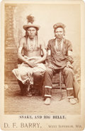 American Indian Art:Photographs, BULL SNAKE AND HALF-YELLOW FACE. c. 1882...