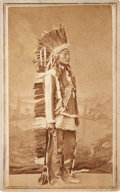 American Indian Art:Photographs, MULE DEER. c. 1867...