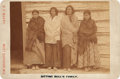 American Indian Art:Photographs, FAMILY OF SITTING BULL. c. 1891...