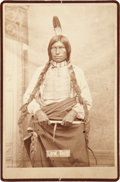 American Indian Art:Photographs, LOW DOG. c. 1880...