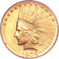 Indian Eagles, 1909 $10 MS66 PCGS....
