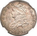 """Bust Quarters, 1825/4 25C """"E"""" Counterstamp MS62 NGC. B-2, R.2...."""