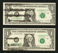 Error Notes:Ink Smears, Fr. 1914-L $1 1988 Federal Reserve Notes. Two Consecutive Examples.Choice Crisp Uncirculated.. ... (Total: 2 notes)