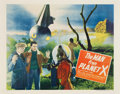 "Movie Posters:Science Fiction, The Man from Planet X (United Artists, 1951). Half Sheet (22"" X28"") Style A.. ..."