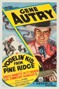 "Movie Posters:Western, Yodelin' Kid from Pine Ridge (Republic, 1937). One Sheet (27"" X41"").. ..."
