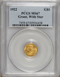 Commemorative Gold: , 1922 G$1 Grant with Star MS67 PCGS. PCGS Population (230/1). NGCCensus: (72/4). Mintage: 5,016. Numismedia Wsl. Price for ...