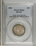 Coins of Hawaii: , 1883 25C Hawaii Quarter MS66 PCGS. PCGS Population (66/9). NGCCensus: (56/5). Mintage: 500,000. (#10987)...