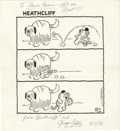 Original Comic Art:Comic Strip Art, George Gately - Heathcliff Daily Comic Strip Original Art, dated 3-20-91 (Tribune Media Services, 1991)....