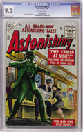 Golden Age (1938-1955):Science Fiction, Astonishing #42 (Atlas, 1955) CGC NM- 9.2 Off-white pages....