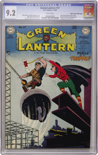 Green Lantern #37 Mile High pedigree (DC, 1949) CGC NM- 9.2 White pages