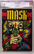 Golden Age (1938-1955):Horror, Mask Comics #1 (Rural Home, 1945) CGC Apparent FN- 5.5 Slight (A)Off-white to white pages....
