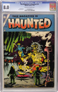 Golden Age (1938-1955):Horror, This Magazine Is Haunted #21 (Charlton, 1954) CGC VF 8.0 Off-whiteto white pages....