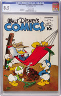 Golden Age (1938-1955):Cartoon Character, Walt Disney's Comics and Stories #50 (Dell, 1944) CGC VF+ 8.5 Off-white pages....