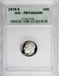 Proof Roosevelt Dimes: , 1978-S 10C PR70 Deep Cameo ICG. NGC Census: (11/0). PCGS Population(114/0). Numismedia Wsl. Price for NGC/PCGS coin in PR...