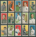 Baseball Cards:Lots, 1909-11 T206 White Border Tobacco Collection (15) - With EPDG and Fac. 42 Overprint. ...
