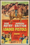 """Movie Posters:Western, Loaded Pistols (Columbia, 1949). One Sheet (27"""" X 41""""). Western.. ..."""