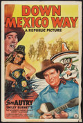 """Movie Posters:Western, Down Mexico Way (Republic, 1941). One Sheet (27"""" X 41""""). Western....."""