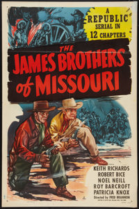 """The James Brothers of Missouri (Republic, 1949). One Sheet (27"""" X 41""""). Western Serial"""