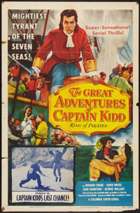 """The Great Adventures of Captain Kidd (Columbia, 1953). One Sheet (27"""" X 41"""") Chapter 15 -- """"Captain Kidd'..."""