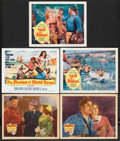 "Movie Posters:Adventure, Slave Ship Lot (20th Century Fox, 1937). Title Lobby Card and LobbyCards (4) (11"" X 14""). Adventure.. ... (Total: 5 Items)"