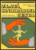 """Movie Posters:Fantasy, The Golden Voyage of Sinbad (Columbia, 1977). Czechoslovakian Poster (11.25"""" X 16""""). Fantasy.. ..."""