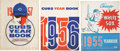 Baseball Collectibles:Publications, 1955-57 Chicago Cubs and White Sox Yearbooks Lot of 3....