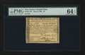 Colonial Notes:New Jersey, New Jersey June 9, 1780 $7 PMG Choice Uncirculated 64 EPQ....