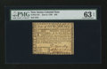 Colonial Notes:New Jersey, New Jersey June 9, 1780 $20 PMG Choice Uncirculated 63 EPQ....
