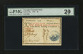 Colonial Notes:Georgia, Georgia 1776 $2 Blue Seal PMG Very Fine 20....