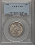 Seated Quarters, 1885 25C MS63 PCGS....