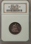 Proof Seated Quarters, 1873 25C No Arrows PR63 NGC....