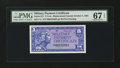 Military Payment Certificates:Series 611, Series 611 5¢ Replacement PMG Superb Gem Unc 67 EPQ....
