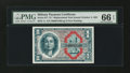 Military Payment Certificates:Series 611, Series 611 $1 Replacement PMG Gem Uncirculated 66 EPQ....