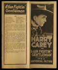 "Movie Posters:Western, A Gun Fightin' Gentleman (Universal, 1919). Herald (8.25"" X 10"").Western.. ..."