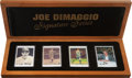 """Baseball Collectibles:Others, Joe DiMaggio """"Signature Series"""" Ceramic Signed Card Collection (1Autograph)...."""