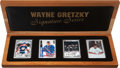 "Hockey Cards:Lots, Wayne Gretzky Upper Deck Authenticated ""Signature Series"" CeramicSigned Cards Collection (2 Autographs)...."