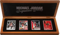 """Basketball Collectibles:Others, Michael Jordan Upper Deck Authenticated """"Signature Series"""" CeramicSigned Card Collection (1 Autograph)...."""