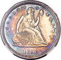 Proof Seated Quarters, 1858 25C PR64 NGC....