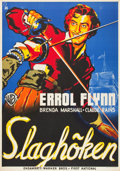 "Movie Posters:Swashbuckler, The Sea Hawk (Warner Brothers, 1940). Swedish One Sheet (27.5"" X 39.5"") Art Style.. ..."