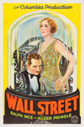 "Movie Posters:Drama, Wall Street (Columbia, 1929). One Sheet (27"" X 41"").. ..."