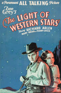 "Movie Posters:Western, The Light of Western Stars (Paramount, 1930). One Sheet (26.25"" X40"") Style A.. ..."