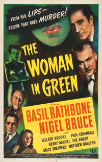 """The Woman in Green (Universal, 1945). One Sheet (27"""" X 41"""")"""