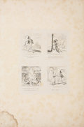 "Books:First Editions, George Cruikshank. Complete Series of Eleven Proof Etchings and anEtched Sheet of Music on Four Undivided Plates for ""The Lov..."