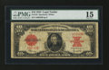 Large Size:Legal Tender Notes, Fr. 123 $10 1923 Legal Tender PMG Choice Fine 15....