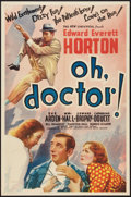 """Movie Posters:Comedy, Oh, Doctor! (Universal, 1937). One Sheet (27"""" X 41""""). Comedy.. ..."""