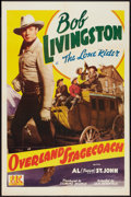 """Movie Posters:Western, Overland Stagecoach (PRC, 1942). One Sheet (27"""" X 41""""). Western.. ..."""